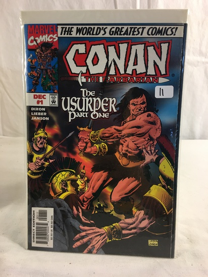 Collector Marvel Comics Conan The Barbarian The Usurper Part One Comic Book No.1