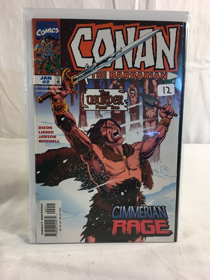 Collector Marvel Comics Conan The Barbarian The Usurper Part One Comic Book No.2