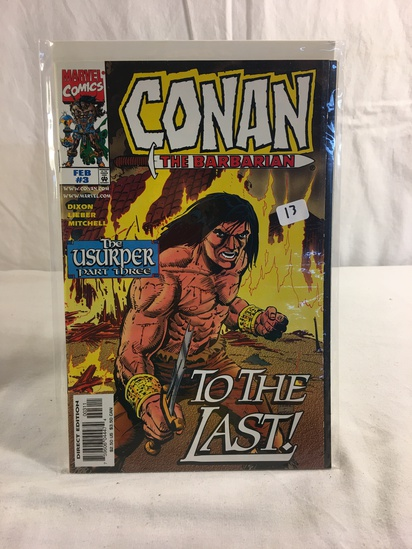 Collector Marvel Comics Conan The Barbarian The Usurper Part One Comic Book No.3