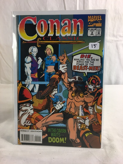 Collector Marvel Comics Conan Classic In The cavern Waits Doom Comic Book No.2