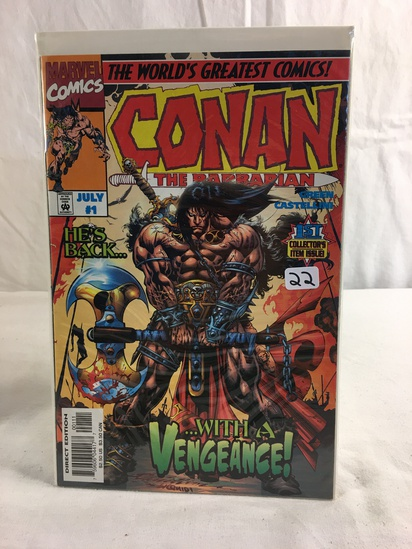 Collector Marvel Comics The Barbarian With A Vegeance Comic Book No.1