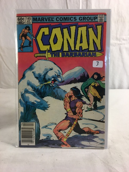 Collector Vintage Marvel Comics Conan Barbarian Comic Book No.145