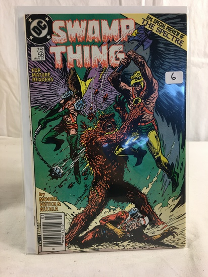 Collector Vintage DC, Comics Swamp Thing Comic Book No.58