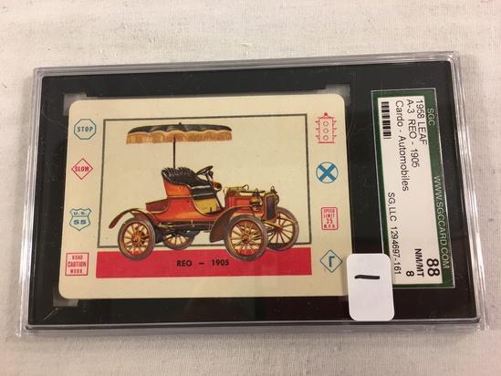 Vintage 1958 Leaf A-REO 1905 Cardo-Trading Card Automobiles SGC 88 NM/MT 8 SG, LLC 1294697-161