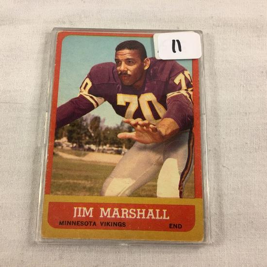 Collector Vintage 1960 T.C.G. Sport Baseball Card Jim Marshall Minnesota Vikings #107 Sport Card