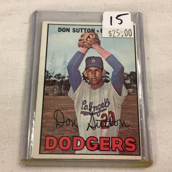 Collector Vintage 1966 T.C.G. Topps Sport Baseball Card Don Sutton #445 Los Angeles Dodgers Card