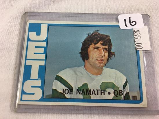 Collector Vintage 1971 T.C.G. Sport Baseball Card Joe Namath #100 Jets QB Sport Trading Card