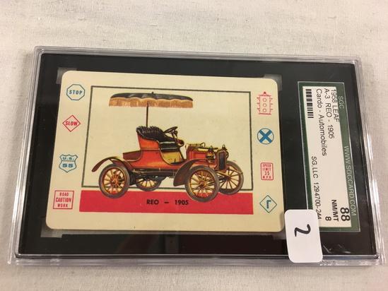 Vintage 1958 Leaf A-REO 1905 Cardo-Trading Card Automobiles SGC 88 NM/MT 8 SG, LLC 1294700-244