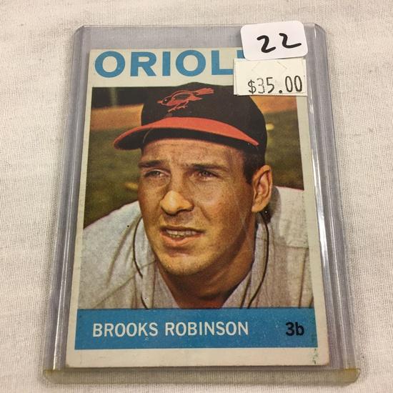 Collector Vintage 1963 T.C.G. Sport Baseball Card Brooks Robinson #230 Topps  Balt. Orioles Sport Ca