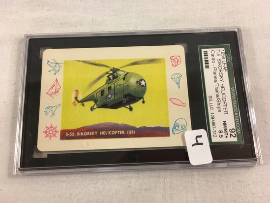 Vintage 1958 Leaf T-5 Sikorsky Hellicopter Cardo-Plains/Trains/Ships SCG 92 NM/MT+ 8.5 SG 1294697-31