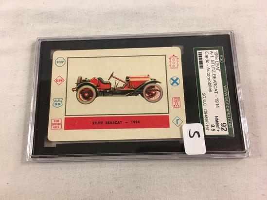 VTG 1958 Leaf A-1 Stutz Bearcat 1914 Cardo Trading Card Automobiles SCG 92 NM/MT+8.5 SG 1294697-157