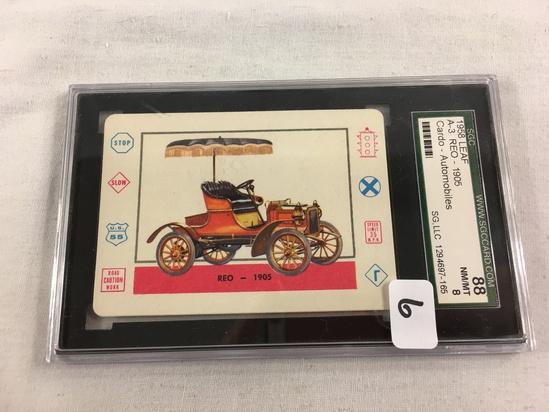 Vintage 1958 Leaf A-3 REO 1905 Cardo Trading Cards Automobiles SCG 88 NM/MT 8 SG LLC 1294697-165