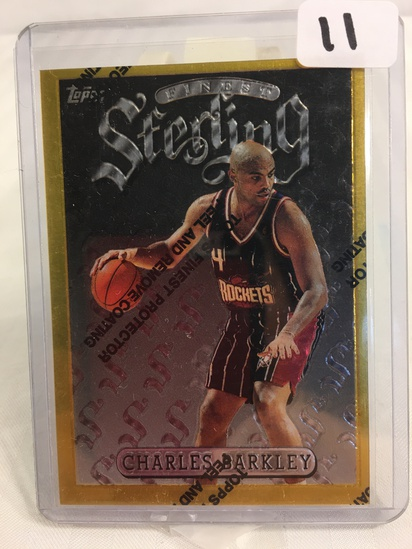 Collector 1996-97 Topps Finest Charles Barkley #290 Finest Sterling  Houston Rockets #290 Sport Card