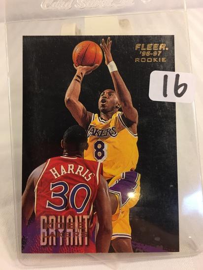 Collector 1996-97 Fleer Rookie Kobe Bryant #203, Rookie RC, Lakers NBA Basketball Sport Trading card