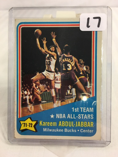 Collector Vintage 1972 Topps Kareem Abdul-Jabbar #163 Basketball Card NBA Basketball Sport Card