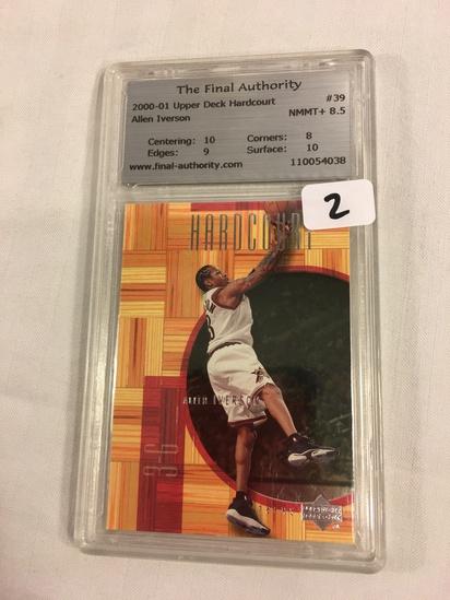 Collector 2000-01 Upper Deck Hardcourt Allen Iverson #39 NMMT+ 8.5 #110054038 Sport NBA Card