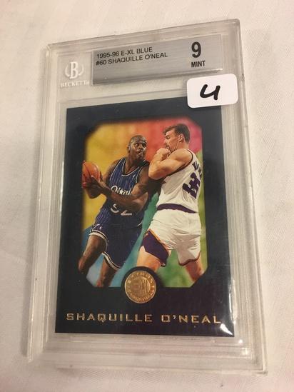 Collector Beckett 1995-96 E-XL Blue #60 Shaquille O'Neal  9 Mint Sport Trading Card