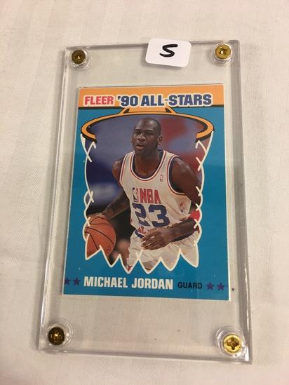 Collector 1990 Fleer All-Stars Michael Jordan  No.5 Of 12 NBA Basketball Sport Trading Card