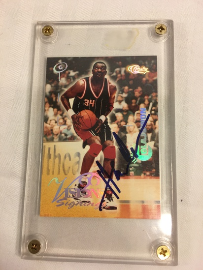Collector 1996 Classic Vision Signings Hakeem Colajuwon Basketball Sport Card 258/270 Hand Signed