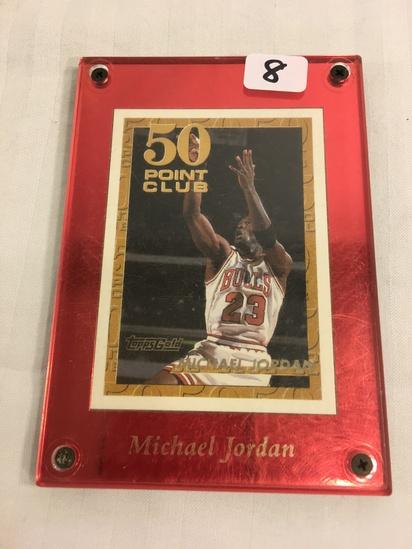 Collector 1993 Topps NBA Basketball Michael Jordan 50 Point Club Toppsgold Sport NBA Card