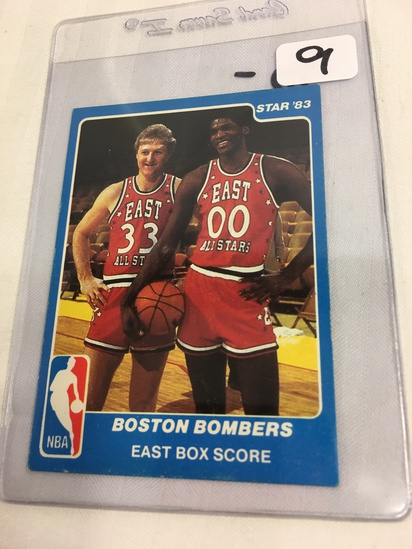 Collector Vintage 1983 Star Boston Bombers All-Stars Larry Bird & Robert Parish #29 East Box Score
