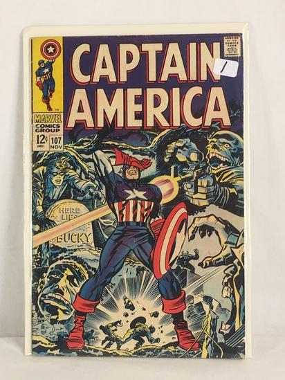 Collector Vintage Marvel Comics Captain America Comic Book No.107