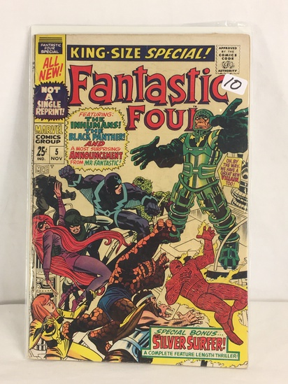 Collector Vintage Marvel Comics King-Size Special Fantastic Four Comic Book No.5