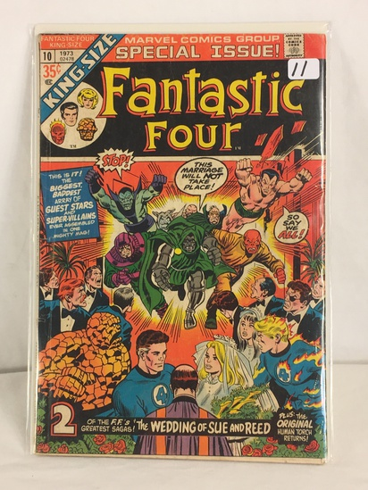 Collector Vintage Marvel Comics Special Issue Fantastic Four Comic Book No.10