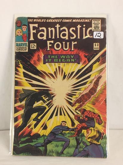 Collector Vintage Marvel Comics Fantastic Four Comic Book No.53