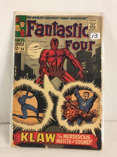 Collector Vintage Marvel Comics Fantastic Four Comic Book No.56