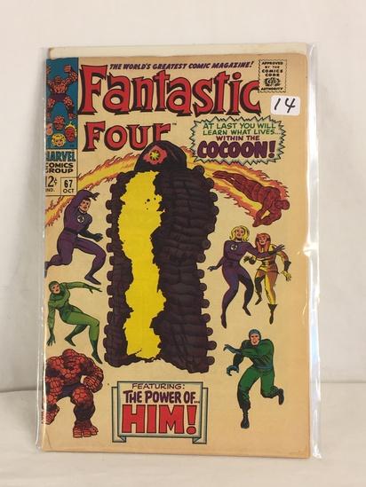 Collector Vintage Marvel Comics Fantastic Four Comic Book No.67