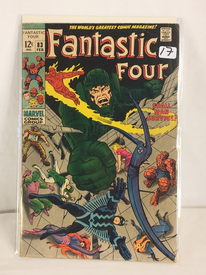 Collector Vintage Marvel Comics Fantastic Four Comic Book No.83