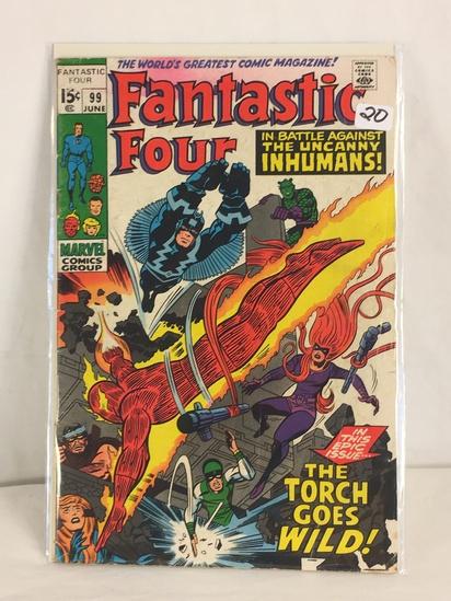 Collector Vintage Marvel Comics Fantastic Four Comic Book No.99