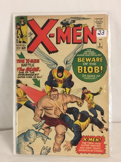 Collector Vintage Marvel Comics The X-Men Comic Book No.3