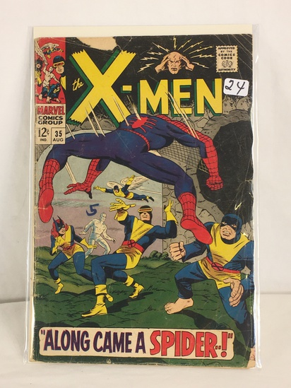 Collector Vintage Marvel Comics The X-Men Comic Book No.35