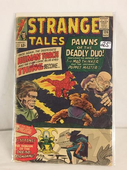 Collector Vintage Marvel Comics Strange Tales Comic Book No.126
