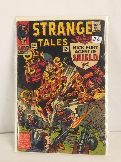 Collector Vintage Marvel Comics Strange Tales Nick Fury Agent Of Shield Comic Book No.142
