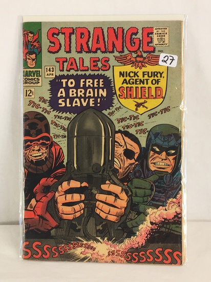 Collector Vintage Marvel Comics Strange Tales Nick Fury Agent Of Shield Comic Book No.143