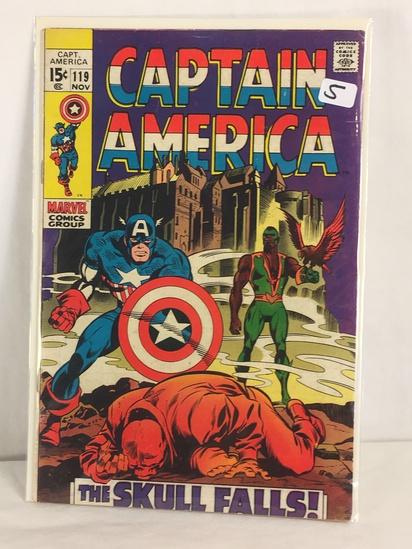 Collector Vintage Marvel Comics Captain America Comic Book No.119