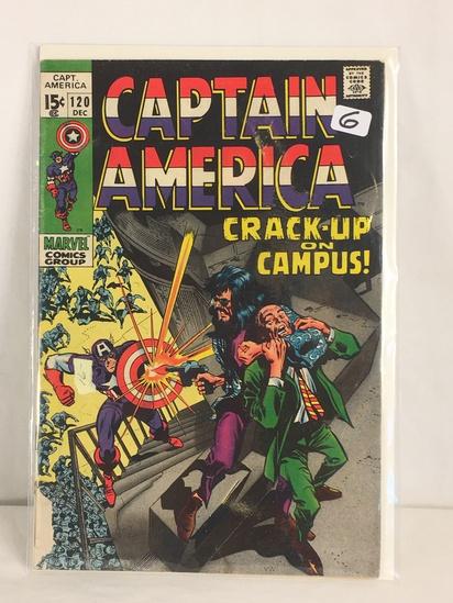 Collector Vintage Marvel Comics Captain America Comic Book No.120