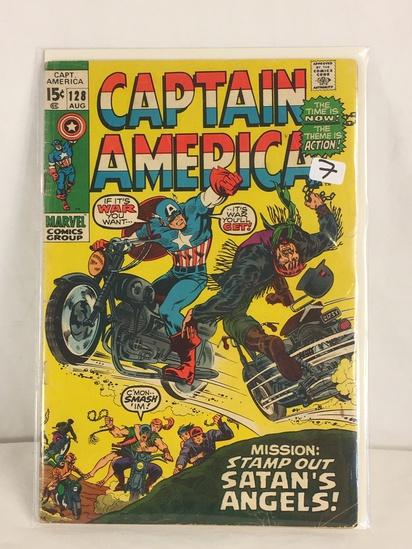 Collector Vintage Marvel Comics Captain America Comic Book No.128