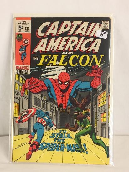 Collector Vintage Marvel Comics Captain America Comic Book No.137