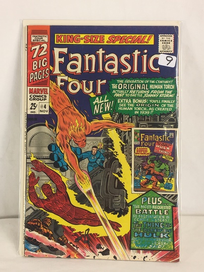Collector Vintage Marvel Comics King-Size Special Fantastic Four Comic Book No.4