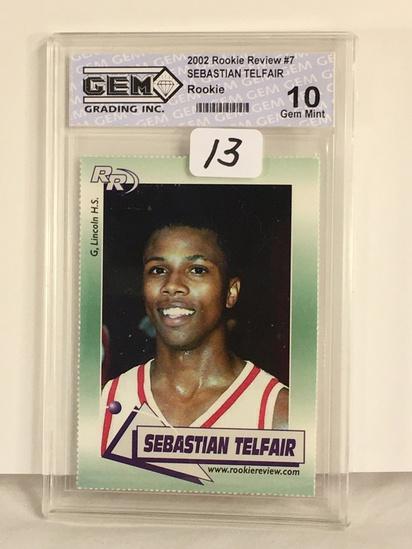 Collector Gem Grading 2002 Rookie Preview #7 Sebastian Telfair Rookie Card 10 Gem Mint #Ac3000138