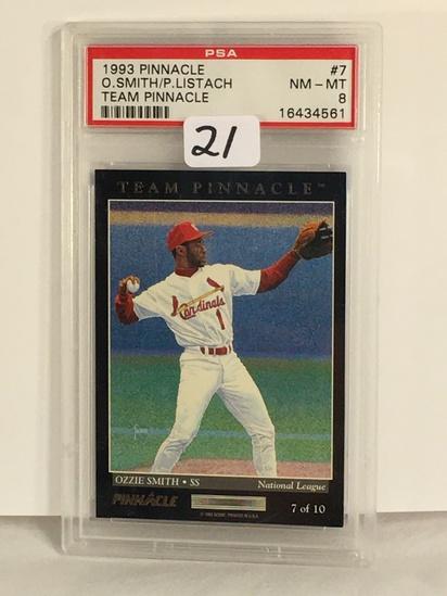 Collector PSA Graded 1993 Pinnacle O.Smith/P.Listach Team Pinnacle #7 NM-MT 8 #16434561 Card