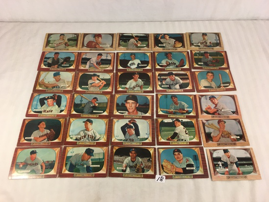 Lot of 30 Collector Vintage Baseball Sport Trading Cards  Assorted Players and Sport Cards