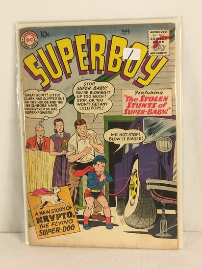 Collector Vintage DC, Comics Superboy Featuring The Stolen Stunts Of Super-Baby #71 Comic
