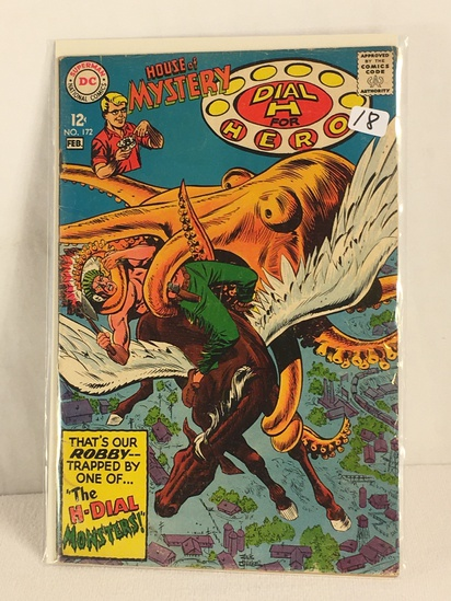 Collector Vintage DC, Comics House Of Mystery Dial H For Heroe Comic Book No.172