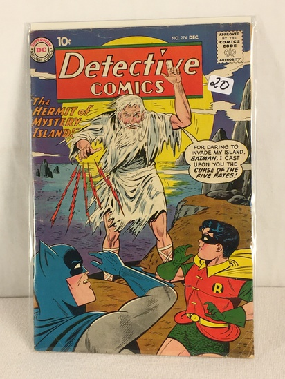 Collector Vintage DC, Comics Detective Comic The Hermit Of mystery Island Comic Book #274