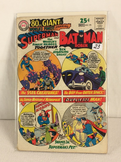 Collector Vintage DC, Comics 80pg. Giant Worlds Finest Superman & Batman With Robin Comic #170